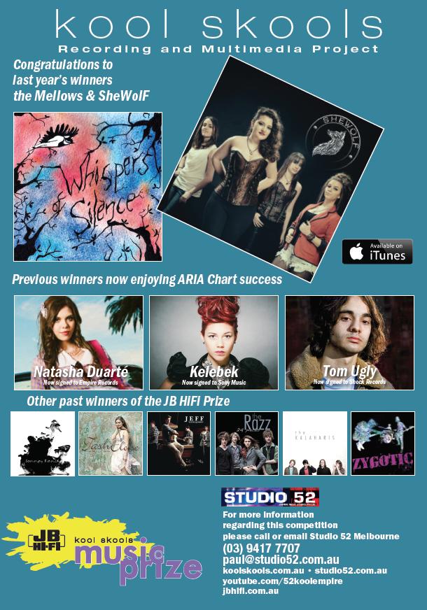 JB HiFi Kool skools Music Prize previous winners 2015