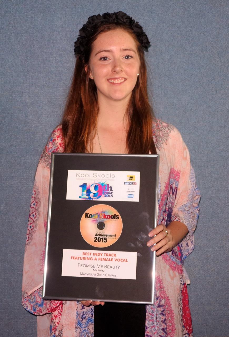 Erin Finlay 2015 Kool Skools Awards