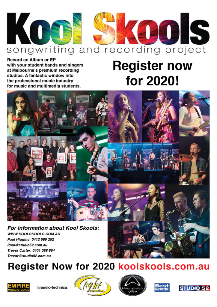 Register now for Kool Skools 2020 songwriting and recording project at Empire Studios